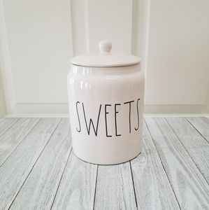 Rae Dunn SWEETS Cookie Candy Jar Canister Candy